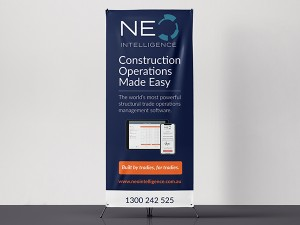 NEO Intelligence Retractable Banner